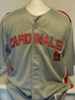 NEW Dynasty Apparel MLB St Louis Cardinals Gray Baseball Jersey Size XL
