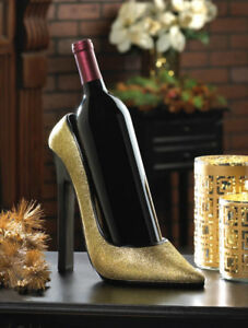 Sparkling High Heel Shoe Wine Bottle Holder & Stopper 2PC NEW
