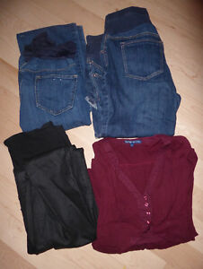 Maternity jeans/pants $ 3 - $ 10/each size M, 4-piece size L $10 Kitchener / Waterloo Kitchener Area image 2