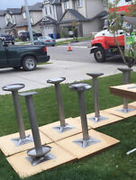 8 RESTAURANT TABLES, WITH BASES