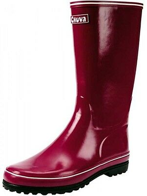 Damen Gummistiefel Gartenschuhe Regenstiefel Boots Stiefel lila wasserdicht NEU