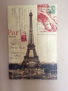 Eiffel Tower Paris Picture, Ready To Hang - St. Thomas