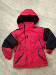 Red & Black Boys Columbia Winter Jacket (size 6/7 would fit 5T)