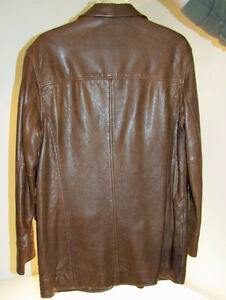 LIKE NEW - Men's Murano Sport leather casual jacket Kawartha Lakes Peterborough Area image 2