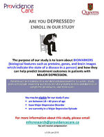 Depression Study (compensation provided)