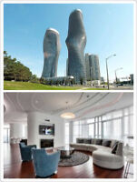 Fully furnished - Large 1+1 Unit (52nd Floor – 60 Absolute Ave.)