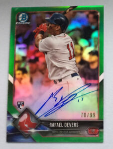 Rafael Devers Autographed Rookie Card
