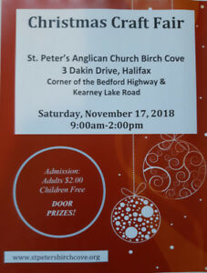 St. Peter's Birch Cove Christmas Craft Sale Sat Nov 17