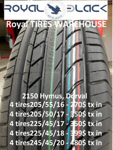 205/55/R16 - 270$ txin 4tires -- 2150 Hymus, Dorval open 8-19h