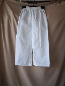 boys girls size 4 white elastic waist Martial Arts pants