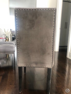 Custom grey Dining room chairs **Excellent condition