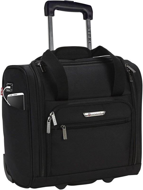 "TPRC 15"" Smart Under Seat Carry-On Luggage with USB Charging"