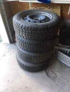 *••*Snow tires on rims!*••* Peterborough Peterborough Area image 3