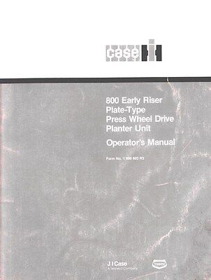 International 800 Early Riser Planter Operators Manual