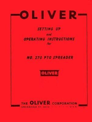 Oliver No 270 Pto Spreader Operators Manual