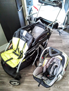 Double stroller LUX, with Car seat,