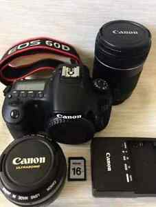 Canon 60D 18.0 MP W/ 18-135mm EFS & 50mm 1.4 lenses!!!