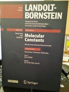 Landolt-Börnstein, Molecular constants (Group II) Vol 20 NEW!