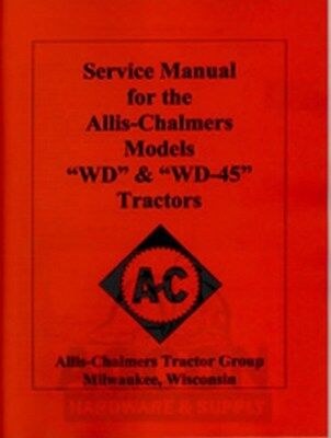 Allis Chalmers Wd Wd45 Wd-45 Tractor Service Repair Manual Ac