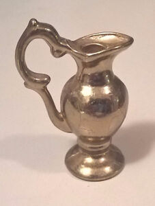 Vintage Brass Dollhouse Miniature Jug Pitcher