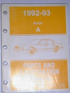 1992 1993 Buick A body Century all models Parts & illustrations