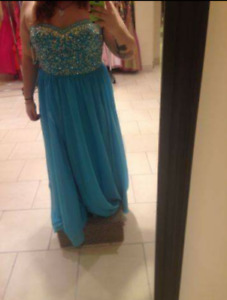 Light blue prom dress size 19 $200 obo
