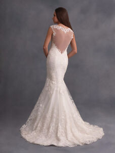 New W/Tags Alfred Angelo 2599 LACE Ivory Size 12, 1/2 PRICE!