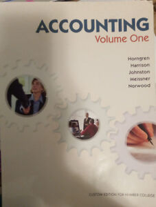ACCOUNTING VOLUME ONE-custom edition for humber collage