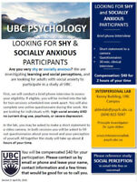 Shy? Social anxiety a concern? Participate in a paid study!