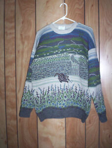 """vintage wool sweater medium 38"""" - 40"""" and others....Christmas"""