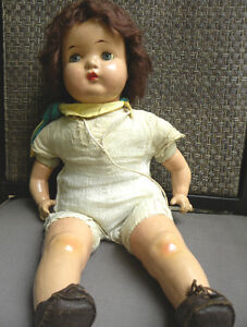 1940's RELIABLE COMPOSITION GIRL GUIDE DOLL ST JEROME QUEBEC West Island Greater Montréal image 8