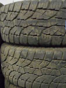 85-90% TREAD LEFT ON 2 TIRES LT275/65/20 ALL SEASON Multi Mile W