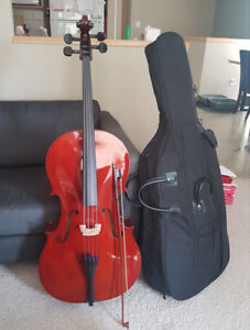 NEW Cello 4/4 with bow and case - Lethbridge