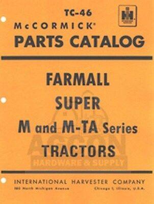 Farmall Super M Mv Md Mdv M-ta Parts Catalog Manual