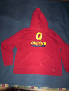 Queen's University L hoodie sweater $25  scarf $10 XL jersey $15
