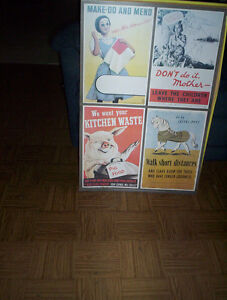 vintage Reproduction of Second World War II poster