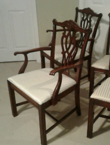 Antique dining room chairs - 4