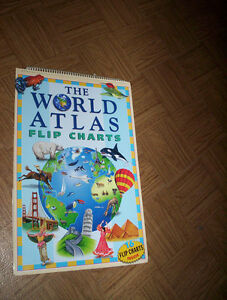 "The World Atlas ... 16 Flip Charts .. about 18"" x 12"""