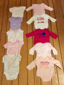 10 Baby's Tops With Snap Closure Size 0-3 Months - St. Thomas