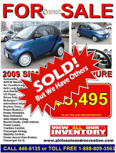 2009 Smart Fortwo Pure Coupe (2 door) SOLD..SOLD