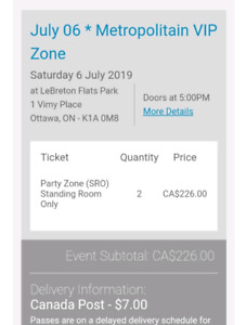 2 VIP Glorious Sons and Taking Back Sunday concert tickets