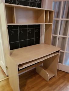 Bureau ordinateur et chaise