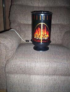 looks like fire burning motion lamp light vintage 1973