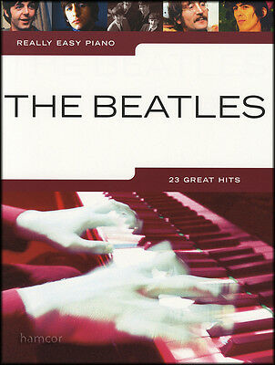 Really Easy Piano The Beatles Sheet Music Book Songbook 23 Great Pop Hit Songs