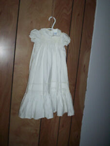 vintage 6-12 month Polly Flinders smocked christening gown dress