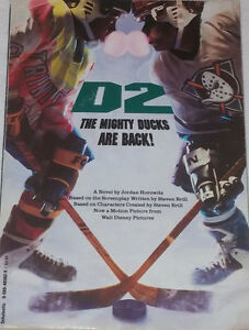 D2 The Mighty Ducks are Back Novel Chapter Book