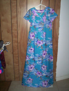 womens vintage floral gown dress Hilo Hattie's  and others