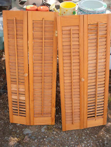 Folding cupboard doors 3 ft long x 15 1/4 wide $10.00 for both