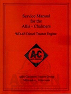 Allis Chalmers Wd45 Diesel Service Repair Manual Wd-45