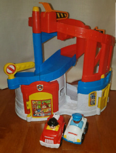 Car track. Little People Race and Chase Rescue play set